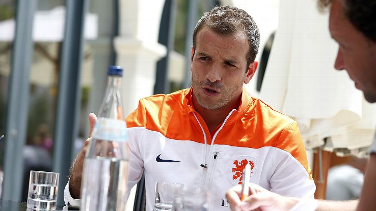 Van der Vaart's calf injury likely spells the end of his international career.