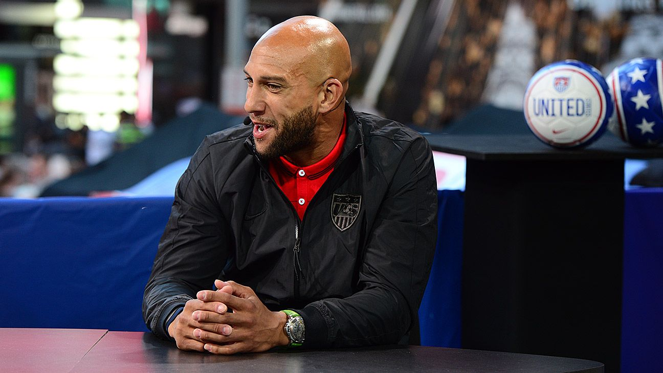 Tim Howard guested on ESPN FC during U.S. Soccer's media blitz on New York.