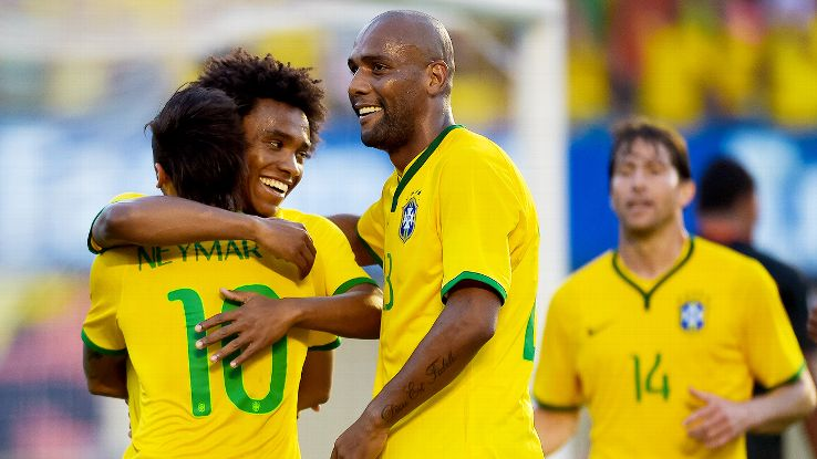Brazil looked sharp and lively in a warm-up rout of Panama.