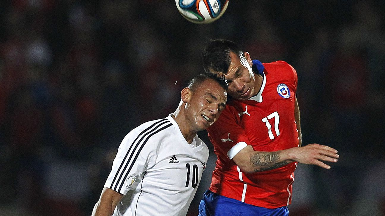 Gary Medel, right, plays a crucial role for Chile as the team's physical enforcer.