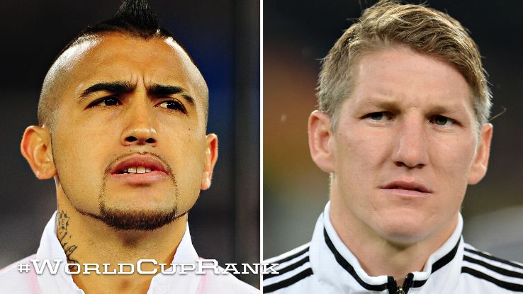 Arturo Vidal and Bastian Schweinsteiger exemplify the modern box-to-box midfield roles for club and country.
