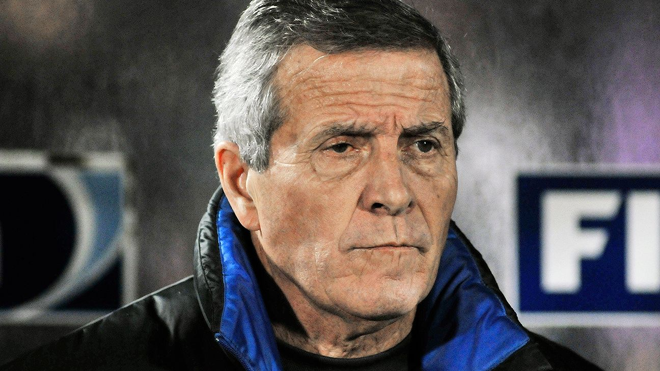 Uruguay head coach Oscar Tabarez's team wrap up their World Cup preparation versus Slovenia.