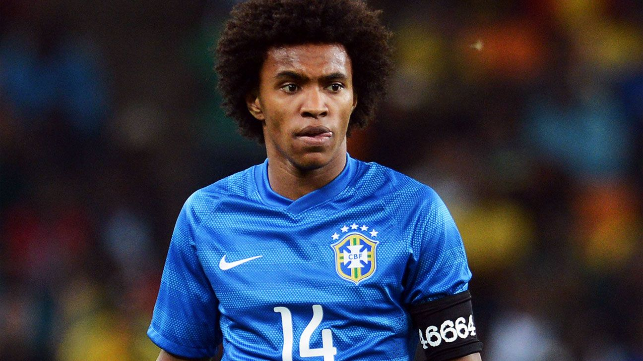Should Neymar suffer from injuries, Willian could be the player that Brazil relies on for scoring.