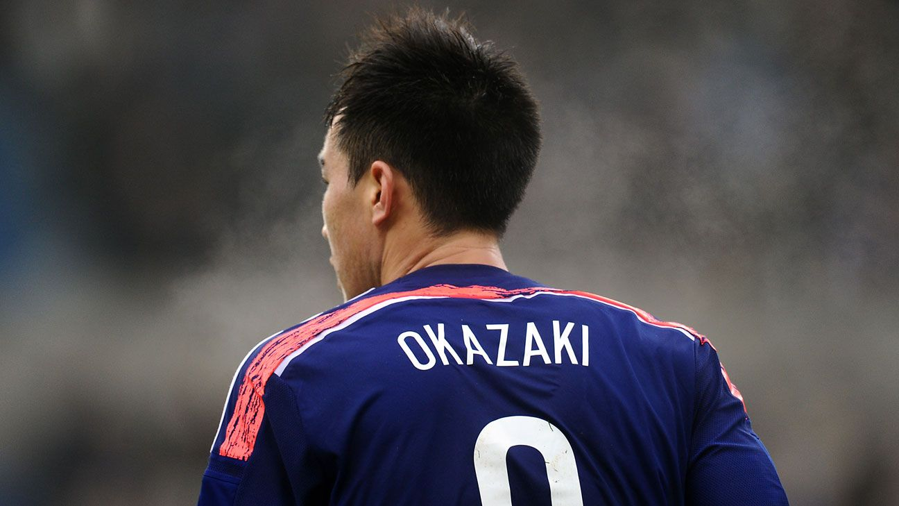Shinji Okazaki is in the best form among Japan's players heading into the World Cup.