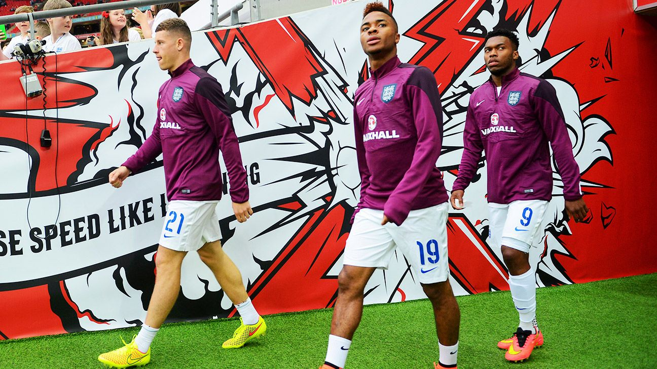 Ross Barkley, Raheem Sterling and Daniel Sturridge are England's hopes for the future -- and in the case of Sturridge, today too.