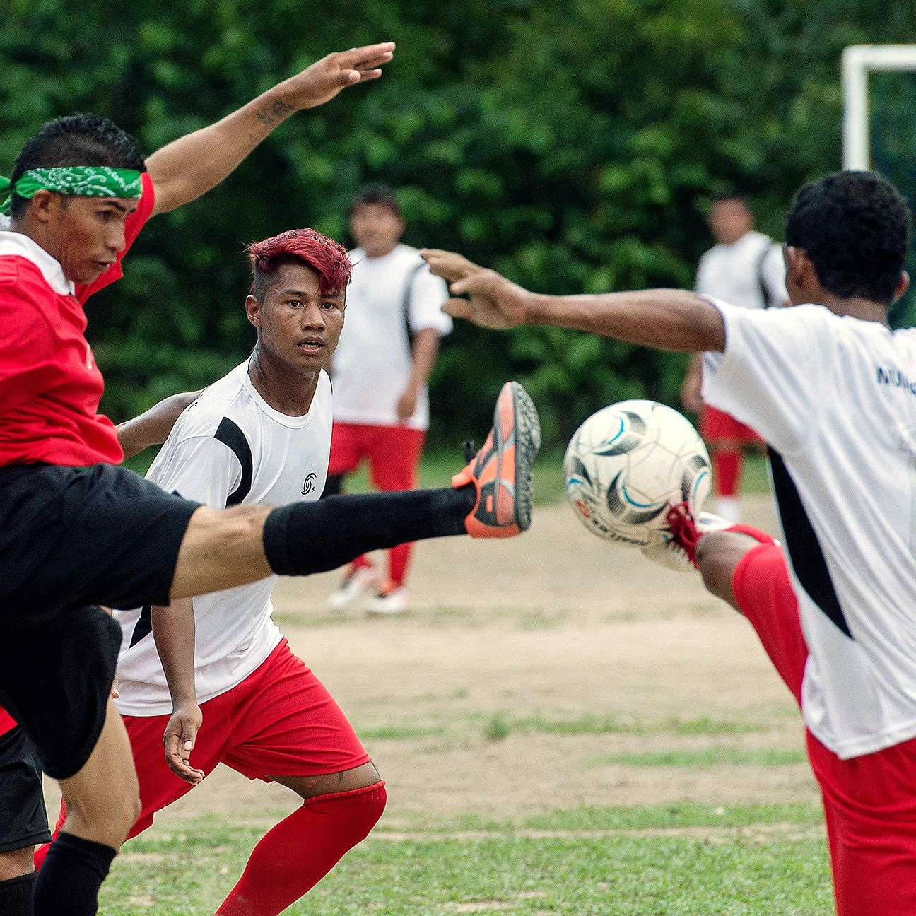 Amateur teams play in the Peladao, Manaus' biggest football tournament.