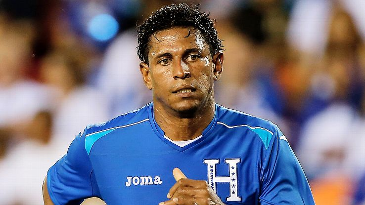 Striker Carlo Costly is sure to have a hand in any scoring chance for Honduras.