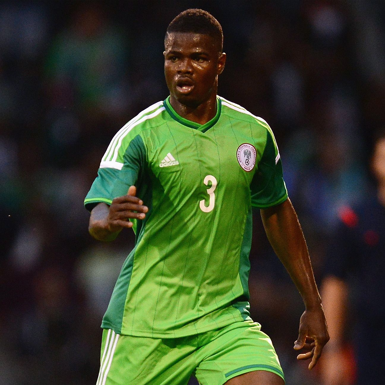 Nigeria's Elderson Echiejile will have his hands full with Christian Bassogog of Cameroon.