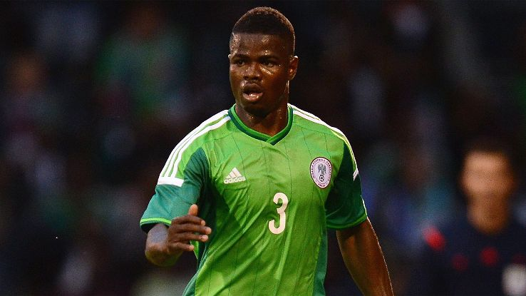 Nigeria's Elderson Echiejile may not be able to add to his 59 caps.
