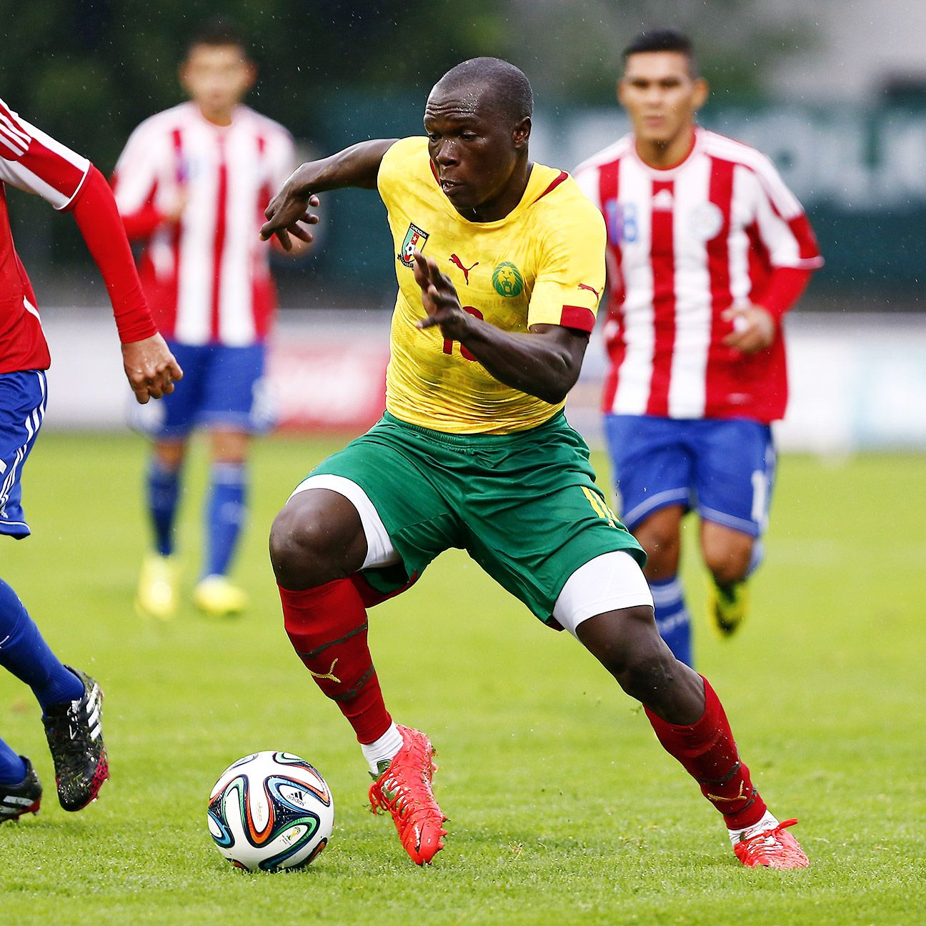 Vincent Aboubakar's pace and power is a real asset for Cameroon.