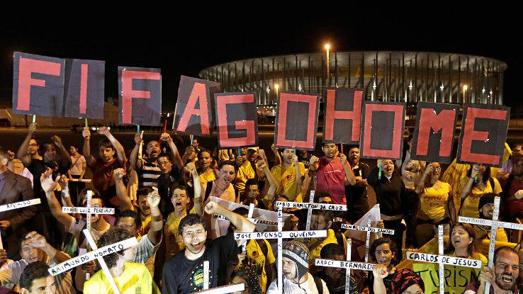 Countless protesters have voiced their opposition to Brazil hosting the World Cup.