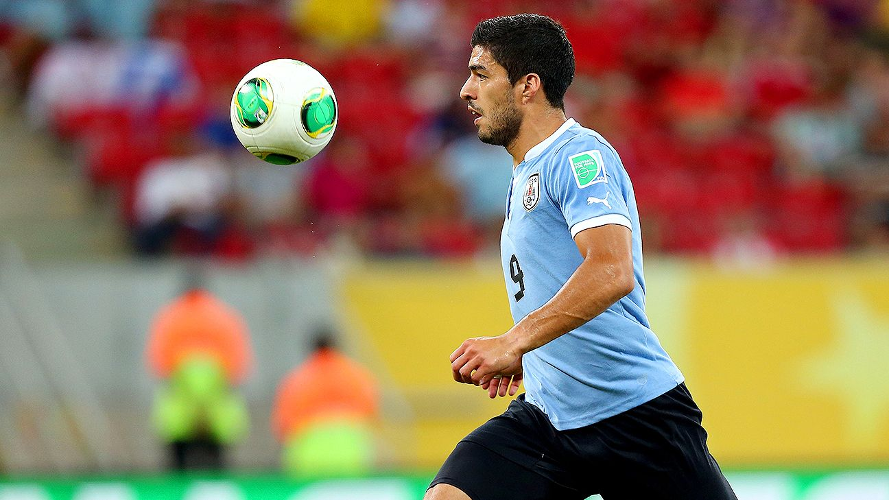 Uruguay's Luis Suarez was the leading scorer in CONMEBOL World Cup Qualifying.