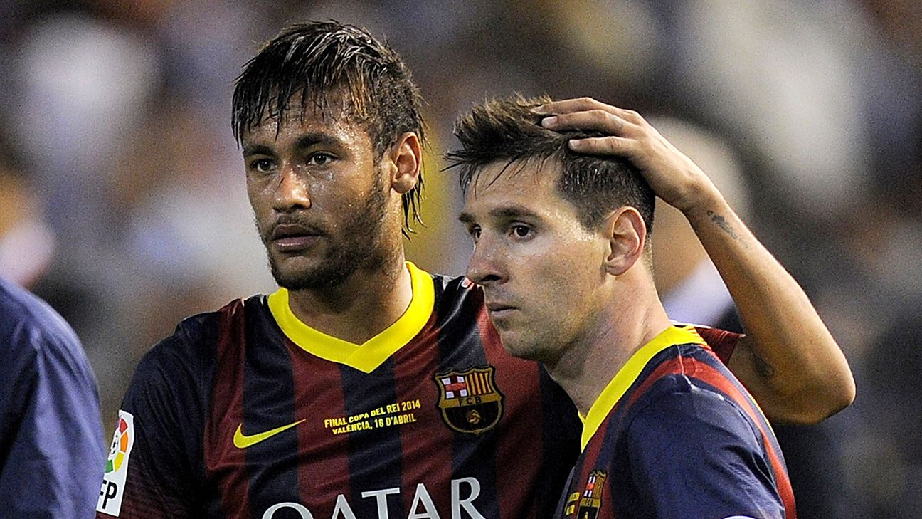 Despite having a difficult first season alongside Messi at Barcelona, Neymar's still clearly a star of the future.