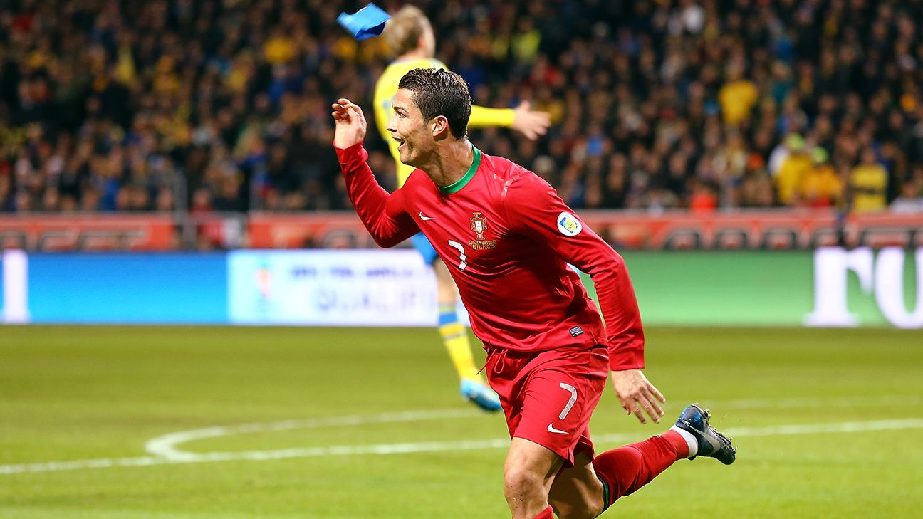 Portugal's Cristiano Ronaldo will be looking to score in his third straight World Cup.