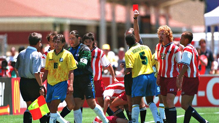 Leonardo's red card vs. the USA was the nadir of a difficult tournament, but victory in 1994 eased some fans' fears about