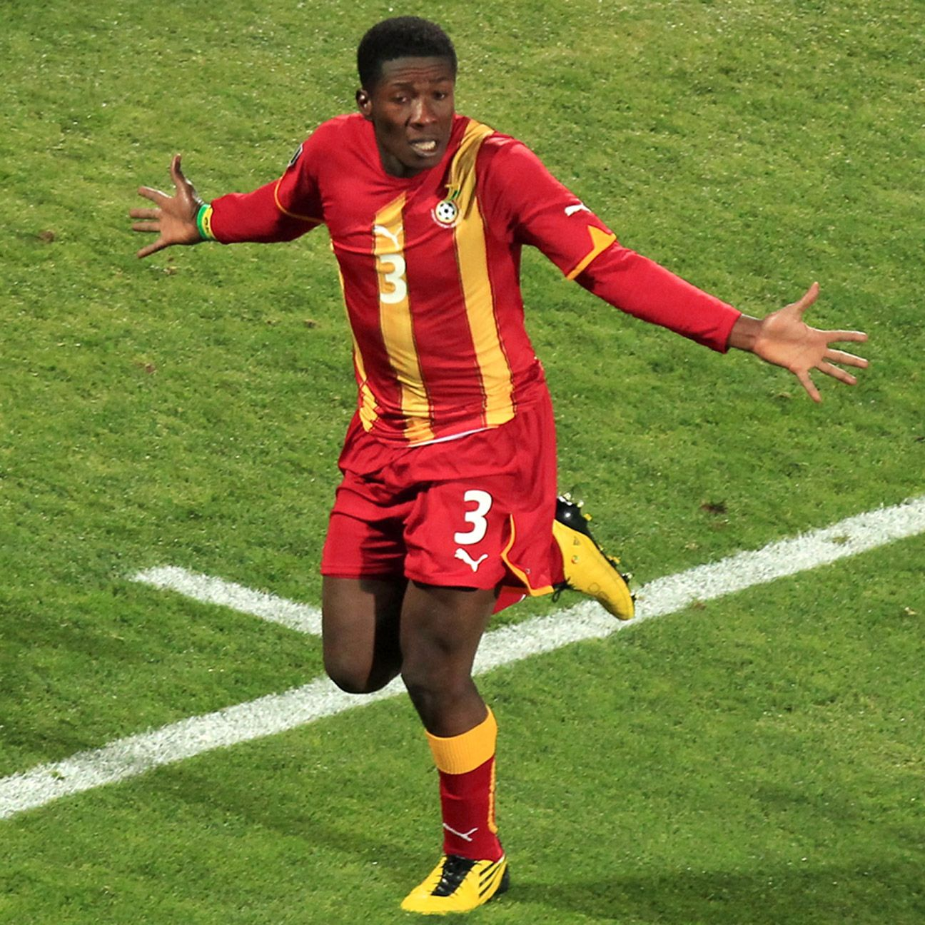 Asamoah Gyan will be looking to score in his third straight World Cup for Ghana.