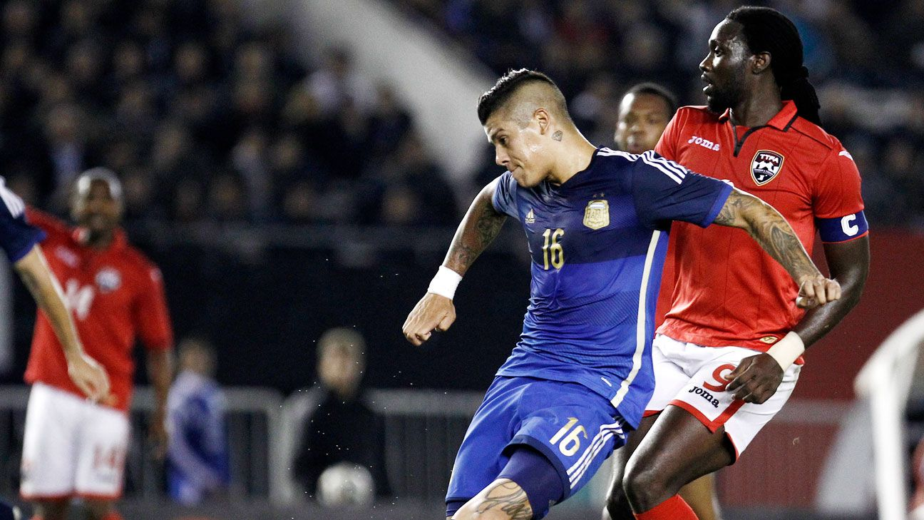 Marcos Rojo's positive recent performances give Argentina hope that left-back is no longer a problem spot.
