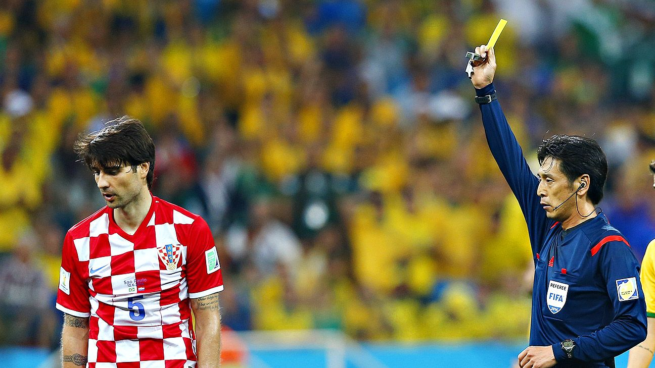 The referee replaced Brazil in the world's crosshairs as the hosts battled to a fortunate win in their World Cup opener.