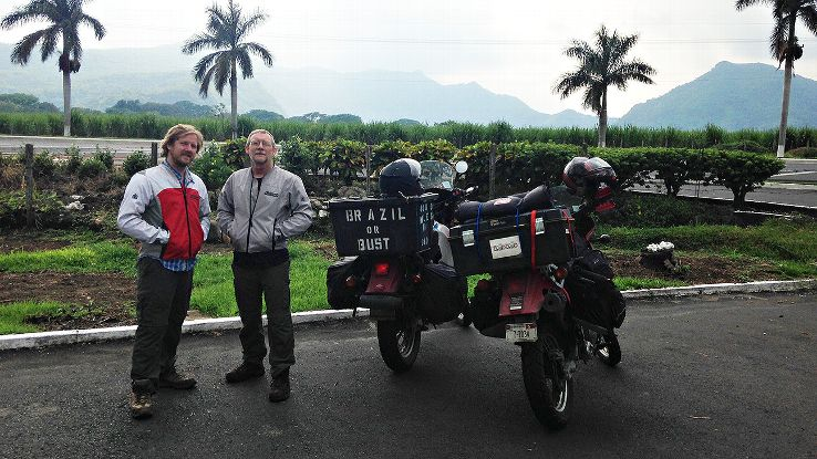 Dale Taylor and his son, Jay, rode motorcycles from the U.S. to spread Dale's father's and mother's ashes in the Amazon.