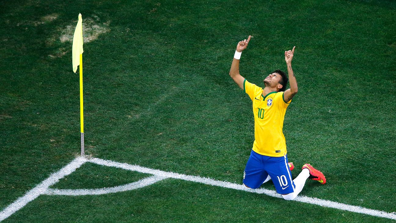 Neymar lived up to the pressure of expectations and led Brazil to a vital win.