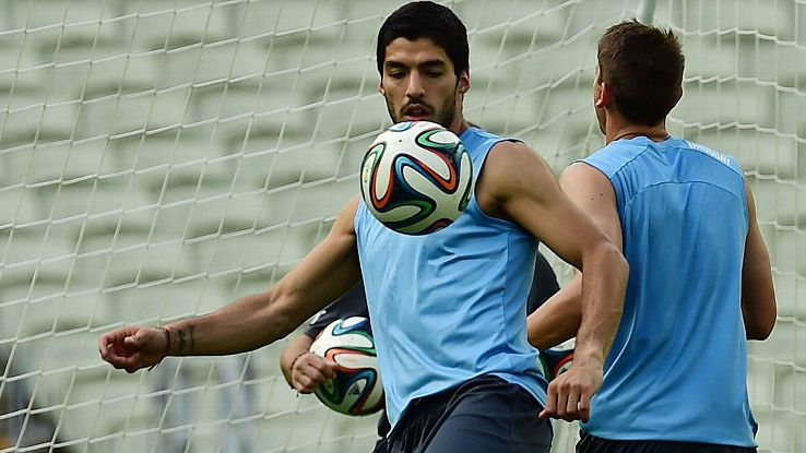 Luis Suarez will not start for Uruguay versus Costa Rica.