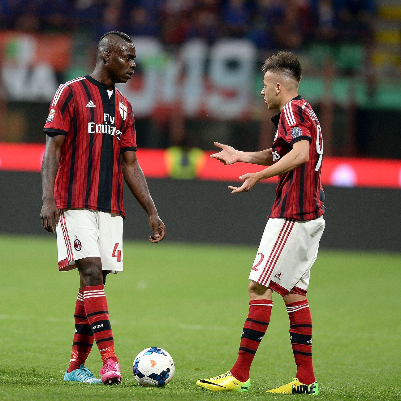 The departure of Mario Balotelli has opened the door for players like Stephan El Shaarawy, right, to flourish at Milan.