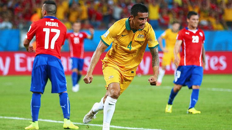 Tim Cahill led an impressive effort from Australia.