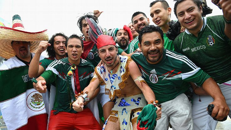 Mexico fans had plenty to cheer about following El Tri's wet and soggy win in their World Cup opener.