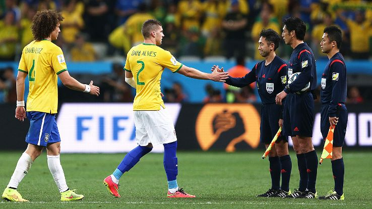 Brazil reaped the benefits of a lucky call vs. Croatia -- and not for the first time at a World Cup.