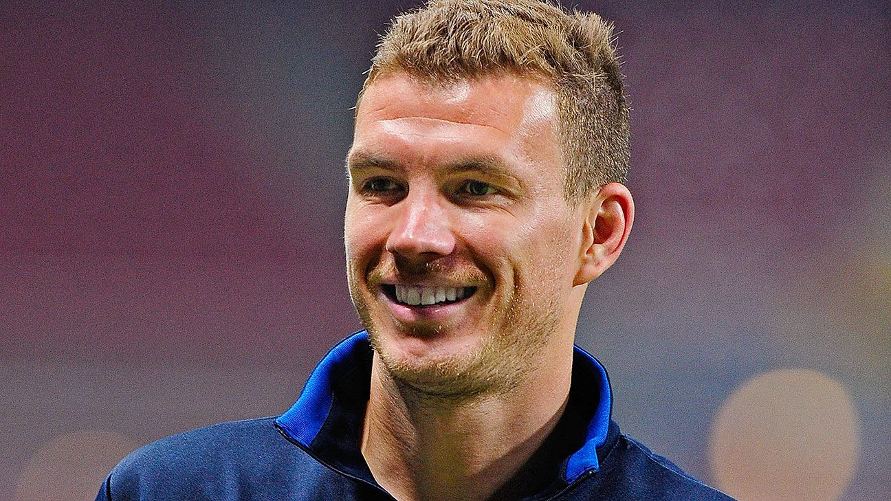 Edin Dzeko is set to play in his first World Cup on Sunday for Bosnia-Herzegovina.