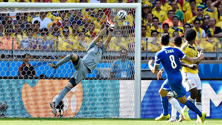 David Ospina has been an unsung hero in goal for Colombia.