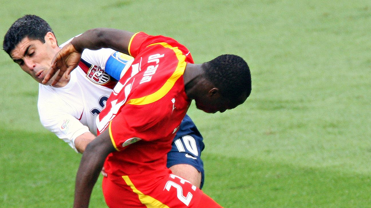 Haminu Draman's first half strip of Claudio Reyna was a key moment in Ghana's 2-1 win over the U.S. in the 2006 World Cup.