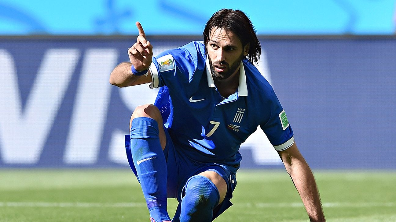 Georgios Samaras put in an inconsistent shift against Colombia.