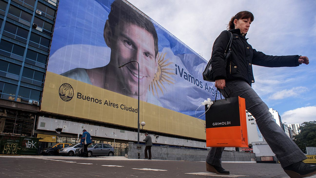 It's not street art, but billboards of Lionel Messi dominate the Bueons Aires landscape.