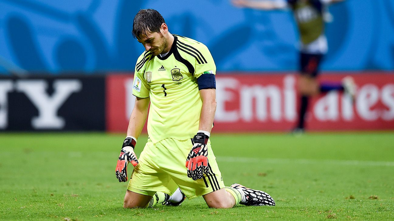 Spain put on a historic display of failure for a defending champion when they lost 5-1 to the Dutch.