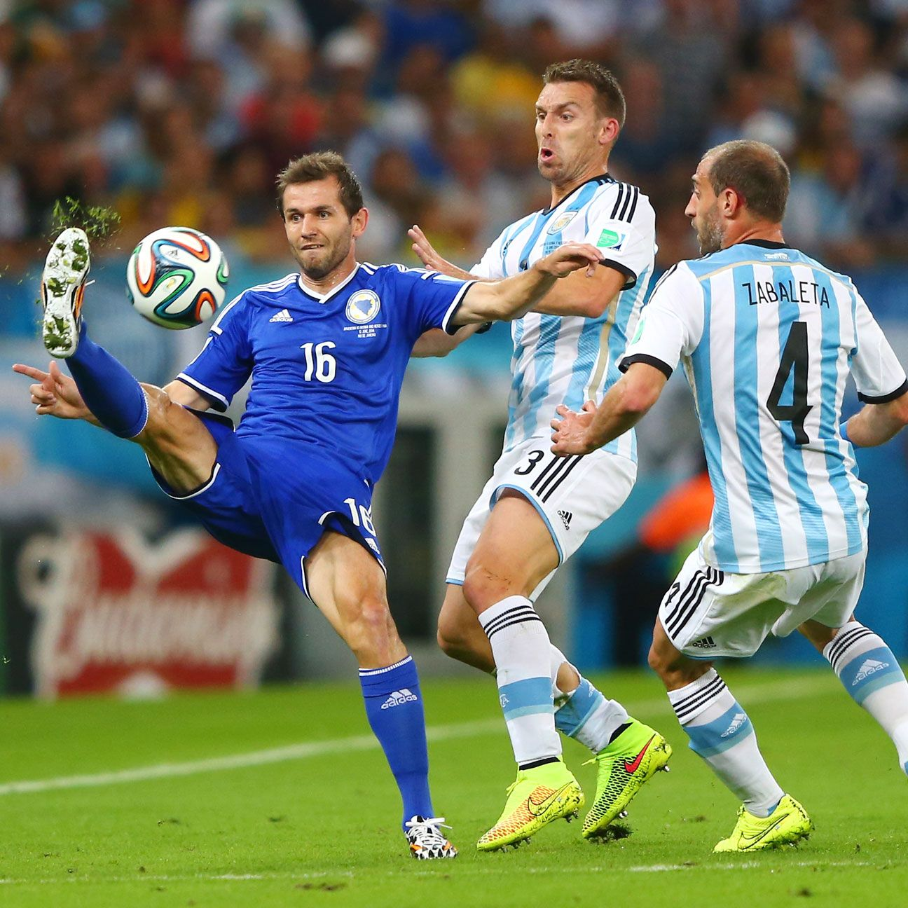 Senad Lulic largely shut down the attacking threats of Argentina in the first half.