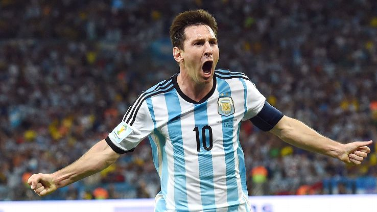 Messi wasn't on top form but his goal was the difference for Argentina on Sunday.