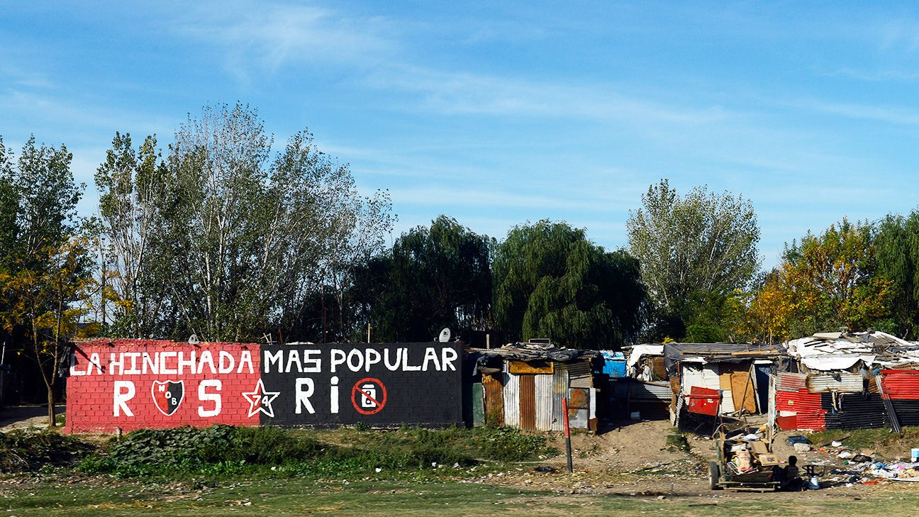 Graffiti showing support for Argentine first division football club Newell's Old Boys is seen at a shantytown near the city of Rosario, football star Lionel Messi was born.