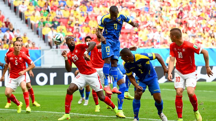 Ecuador's chance at three points quickly turned to defeat in stoppage time.
