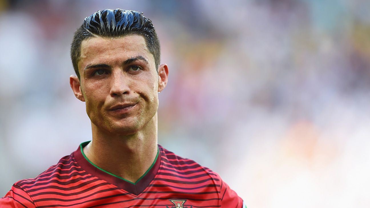 Cristiano Ronaldo looked none too pleased with his Portugal teammates Monday.