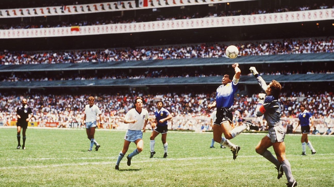 Diego Maradona's Hand of God goal is arguably the most infamous in history.