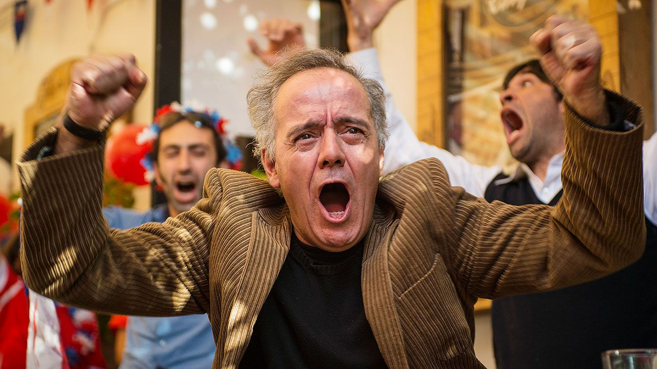 Journalist and novelist Pablo Azocar revels in Chile's 2-0 victory over Spain on Wednesday.
