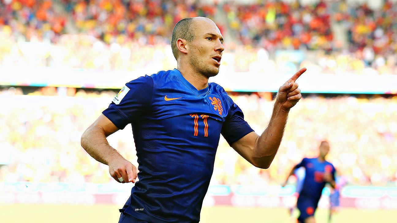 Arjen Robben was named man of the match against Australia.