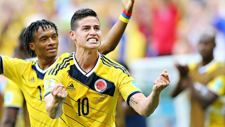 James Rodriguez spearheaded Colombia's 2-1 victory over the Ivory Coast.