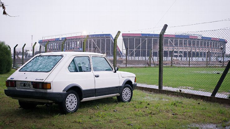 Lucchini's 1992 Fiat 147 Spazio, the car in which Bergoglio (before he became Pope Francis) would ride shotgun.