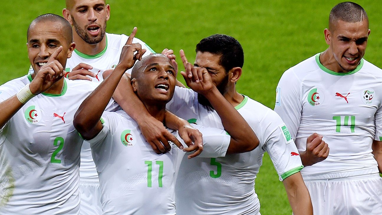 Yacine Brahimi's scoring exploits have helped Algeria close in on a second-round berth.