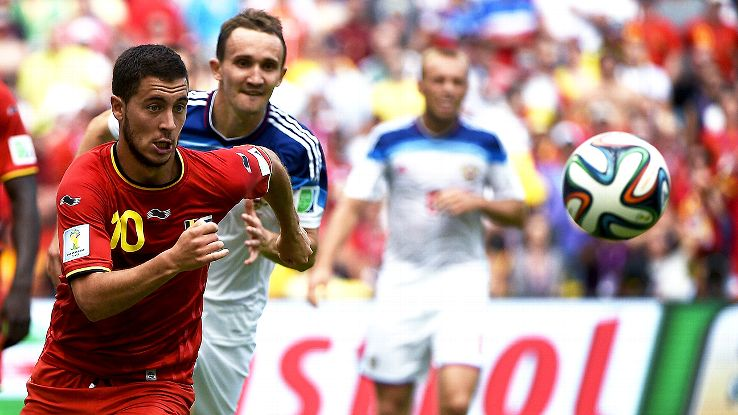 Eden Hazard and Belgium will look to sew up first place in Group H on Thursday.