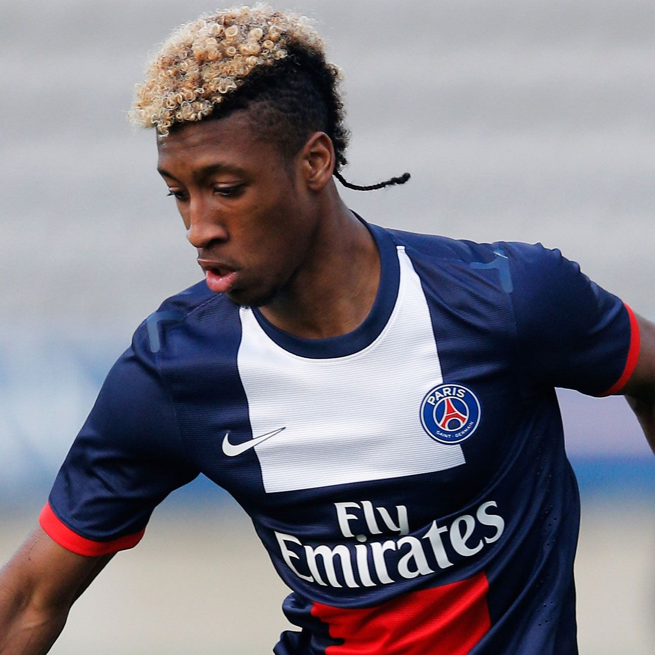 Kingsley Coman made just three Ligue 1 appearances with PSG before departing for Juventus.