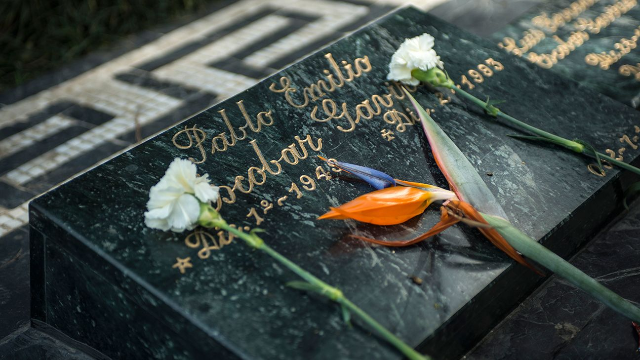 Many are still drawn to Pablo Escobar's grave in Medellin, Colombia.