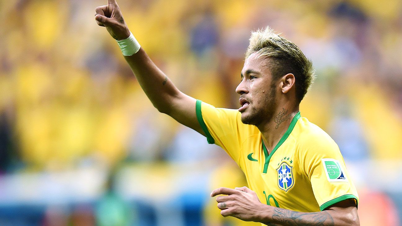Barcelona's Neymar has led Brazil into the second round of the World Cup.